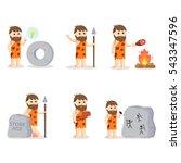 caveman set illustration design | Shutterstock .eps vector #543347596