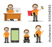 nerd geek people set   Shutterstock .eps vector #543348583