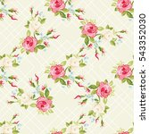 seamless floral pattern with... | Shutterstock .eps vector #543352030