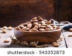 raw peeled almond  vintage... | Shutterstock . vector #543352873