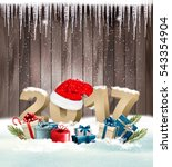 christmas background with a... | Shutterstock .eps vector #543354904