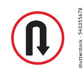 u turn right direction sign... | Shutterstock .eps vector #543355678