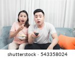 happy young couple in... | Shutterstock . vector #543358024