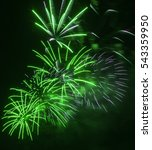 brightly green fireworks and... | Shutterstock . vector #543359950