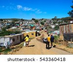 south africans walking on the... | Shutterstock . vector #543360418