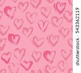 abstract seamless heart pattern.... | Shutterstock .eps vector #543362119