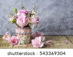pink carnation in mosaic flower ... | Shutterstock . vector #543369304