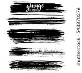 black ink vector brush strokes. ... | Shutterstock .eps vector #543370276