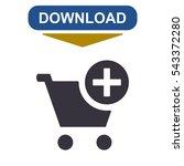 shopping cart icon  vector flat ...