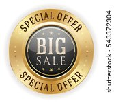 black big sale badge   button... | Shutterstock .eps vector #543372304
