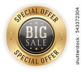 black big sale badge   button...   Shutterstock .eps vector #543372304