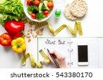 concept diet  slimming plan... | Shutterstock . vector #543380170