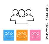 social network button. users... | Shutterstock . vector #543381013