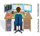 person working at the computer. ... | Shutterstock .eps vector #543382360
