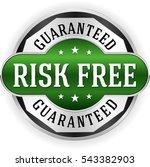 green risk free badge  button... | Shutterstock .eps vector #543382903