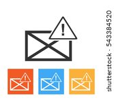 envelope icon with attention...