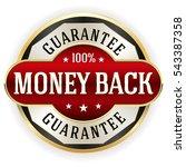 red metallic money back...   Shutterstock .eps vector #543387358
