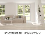 white room with sofa and green... | Shutterstock . vector #543389470