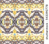 mosaic seamless colorful... | Shutterstock . vector #543390778