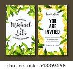 floral background for... | Shutterstock .eps vector #543396598
