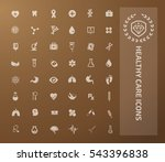 medical icon healthy care icon... | Shutterstock .eps vector #543396838