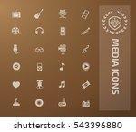 media icon set vector | Shutterstock .eps vector #543396880