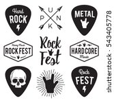 Rock Fest Badge Label Vector...