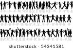 profiles of a large collection... | Shutterstock .eps vector #54341581