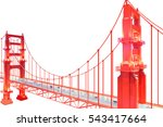 golden gate bridge.san... | Shutterstock . vector #543417664