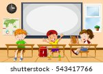 kids learning in the classroom... | Shutterstock .eps vector #543417766
