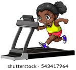 african american girl running... | Shutterstock .eps vector #543417964