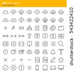 cloud application icons | Shutterstock .eps vector #543422410