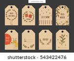 set of vintage christmas and...   Shutterstock .eps vector #543422476