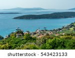 sea view from ancient greek... | Shutterstock . vector #543423133