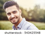 handsome young man at... | Shutterstock . vector #543425548
