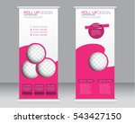 roll up banner stand template.... | Shutterstock .eps vector #543427150