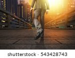 young manager carrying a... | Shutterstock . vector #543428743