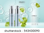 ginkgo cosmetic ads  blue spray ... | Shutterstock .eps vector #543430090