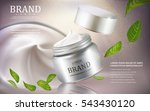 cream cosmetic ads  silver... | Shutterstock .eps vector #543430120