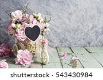 pink carnation in bicycle with...   Shutterstock . vector #543430984