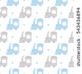 kids seamless pattern with... | Shutterstock .eps vector #543436894