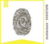 fingerprint vector icon. | Shutterstock .eps vector #543437698