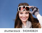 woman skier girl wearing warm... | Shutterstock . vector #543440824