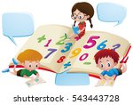 speech bubble template with... | Shutterstock .eps vector #543443728