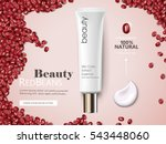 red beans cosmetic cream ads ... | Shutterstock .eps vector #543448060