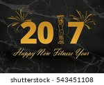 happy new fitness year | Shutterstock . vector #543451108