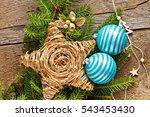 christmas decoration over...   Shutterstock . vector #543453430