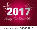 happy new fitness year | Shutterstock . vector #543455710