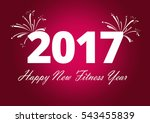 happy new fitness year | Shutterstock . vector #543455839