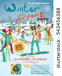 Vector Winter Sports Party...